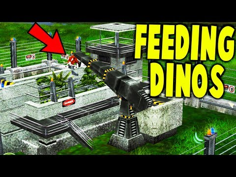 FEEDING ENTIRE COWS TO MY DINOSAURS! - Jurassic Park : Operation Genesis Gameplay