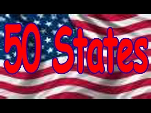 50 States Song rhyming and in alphabetical order Childrens Song  THE LEARNING STATION