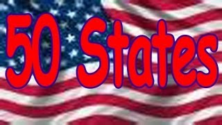 50 States Song (rhyming and in alphabetical order) Children