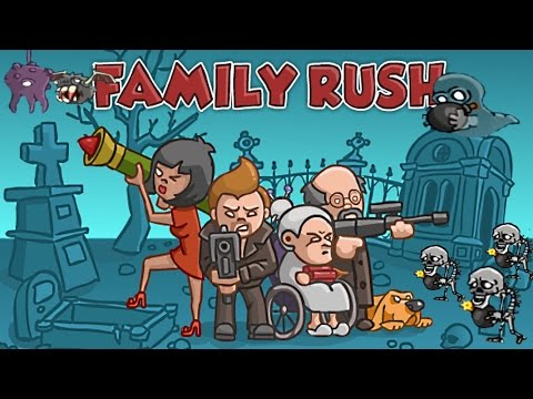 Мультик игра- стрелялки для детей - Семья против зомби 1 часть