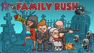 Мультик игра- стрелялки для детей / Семья против зомби 1 часть