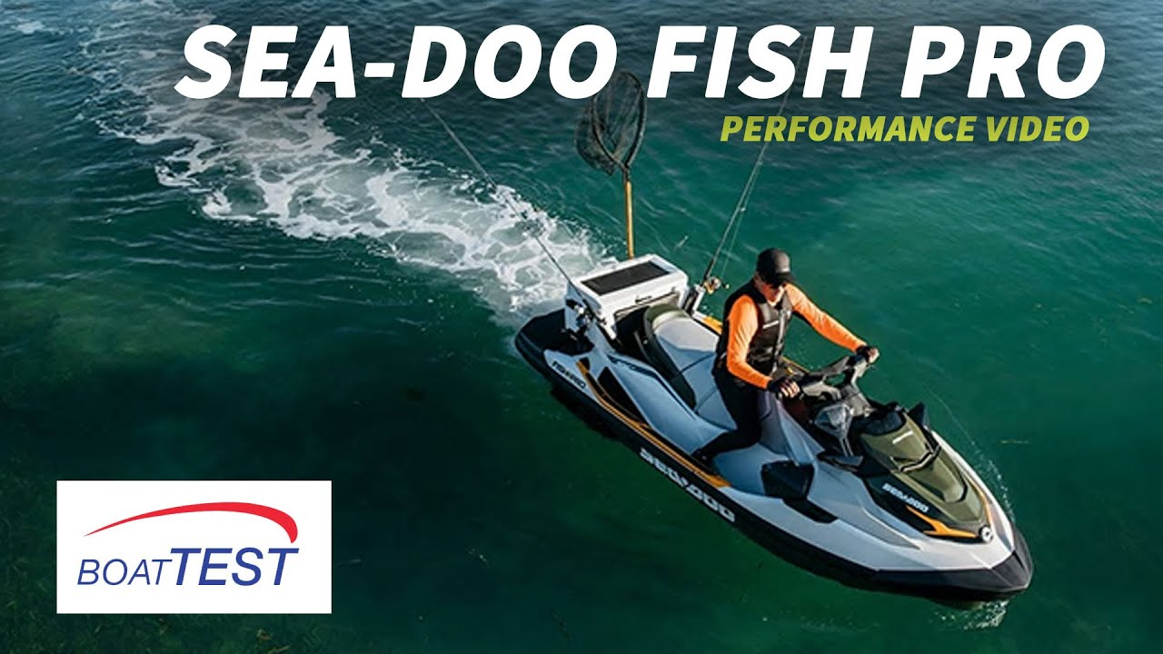 Sea Doo Fish Pro 2019 Test Video By Boattest Com Youtube