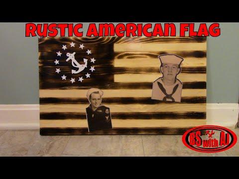 DIY Wooden Rustic American Flag