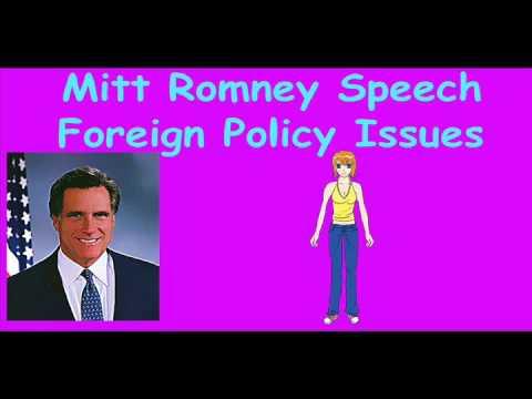 Mitt Romney Speech Virgina Foreign Policy