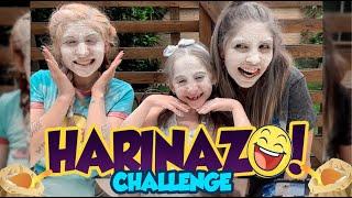 HARINAZO CHALLENGE 😩/ CON MIS HERMANAS 👩🦰👧🏻👩🏻