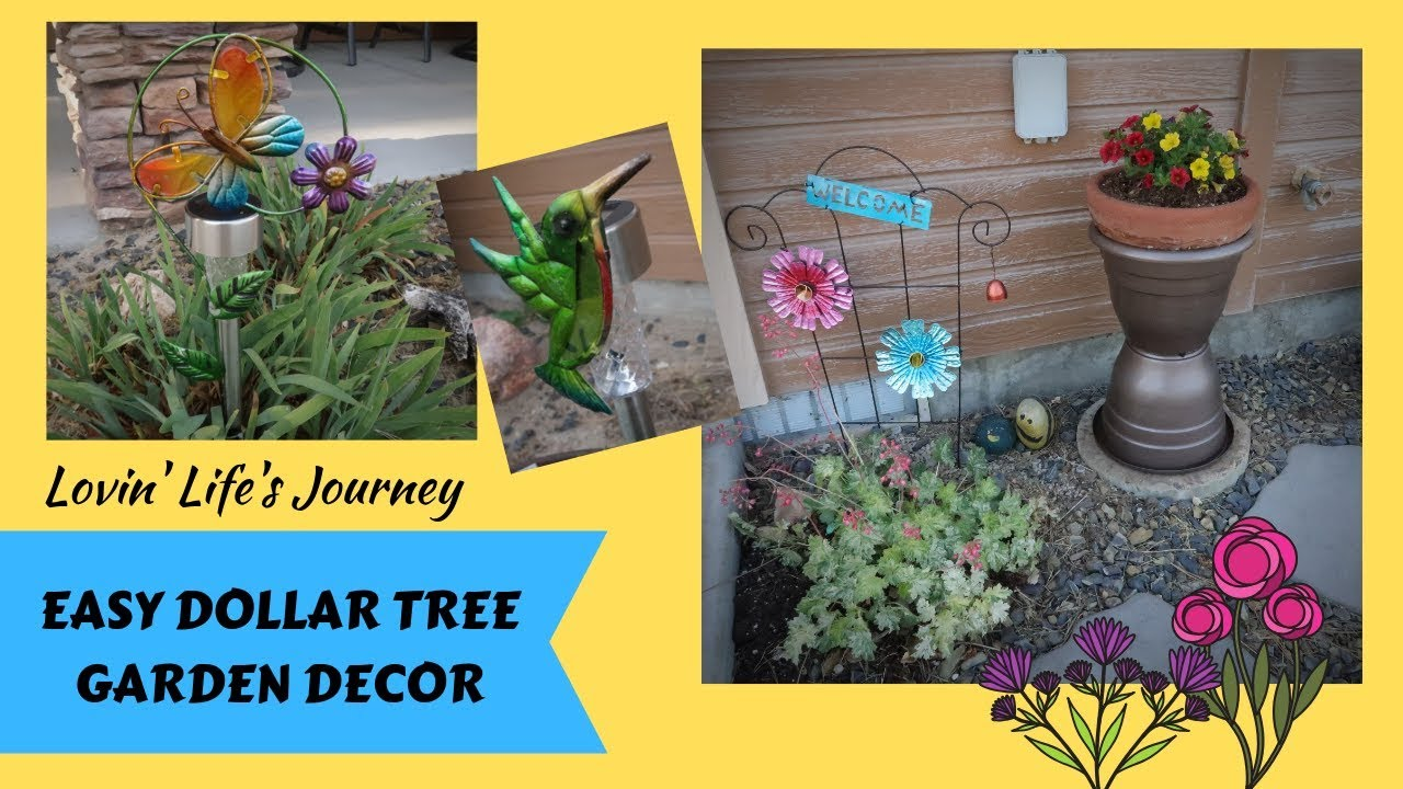 Easy Dollar Tree Garden Decor Diys For Less Than 5 Youtube