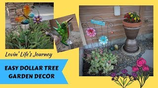 Easy Dollar Tree Garden Decor DIYs for less than $5