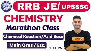 #RRB JE / Upsssc 75 Days Special | Science (विज्ञान) Chemistry | By Vivek Sir | Marathon Class
