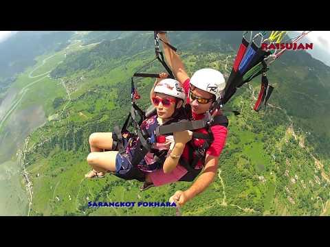 Paragliding In Pokhara, Nepal | Beauty Of Nepal | परग्लिदिङ्ग सरंकोट, पोखरा