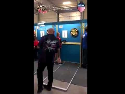 Andy Hamilton does a 9 DARTER! - 2018 WDF Belgium Open
