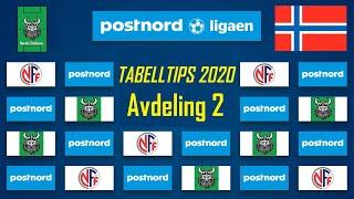 Tabelltips Og Analyse Av Postnord-ligaen 2020 Avdeling 2