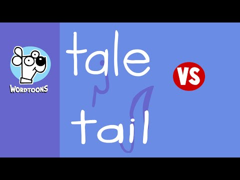 Drawing Tail And Tail Into Cartoons - Tail Vs Tale Wordtoons