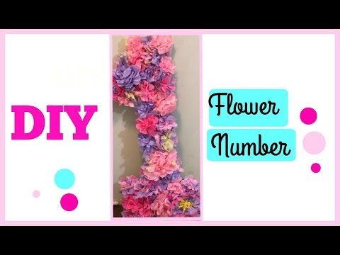 DIY Princess Tissue Paper flower Number Cheap  and Easy