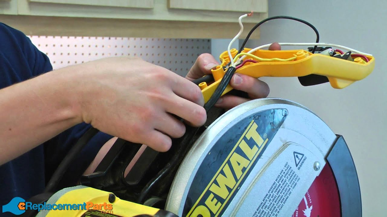 maxresdefault how to replace the cord on a dewalt dw708 miter saw a quick fix dw708 wiring diagram at bayanpartner.co