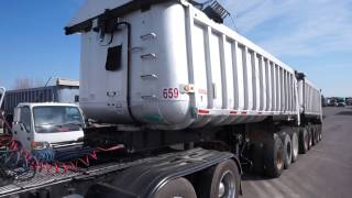 1986 Fruehauf Lead and Pup Dump Trailers