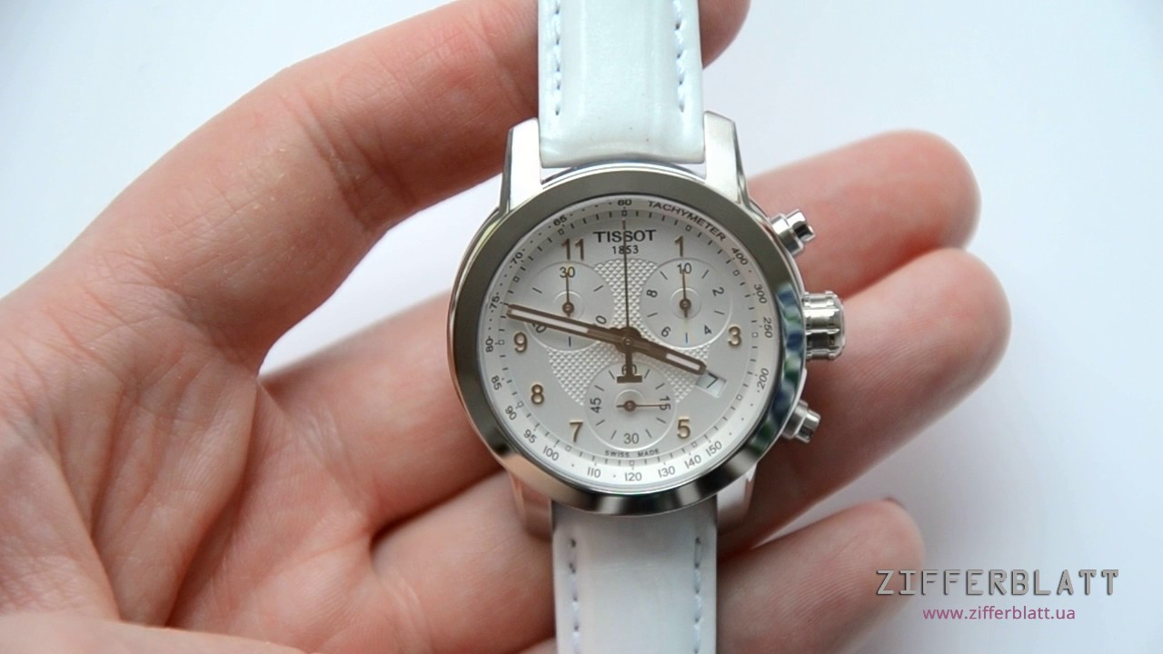 Часы Tissot PRC 200 Quartz Chronograph Lady T055.217.16.032.01 - YouTube a7eee2e33c