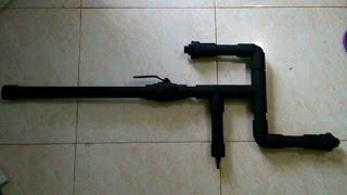 Membuat senapan angin/airsoft gun pipa pvc/paralon tipe mini gun predator