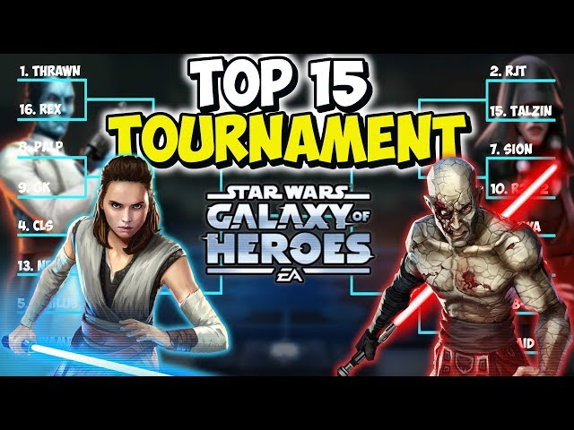 Top 15 Tourney! Will Sion remain King of 1v1?? | Star Wars