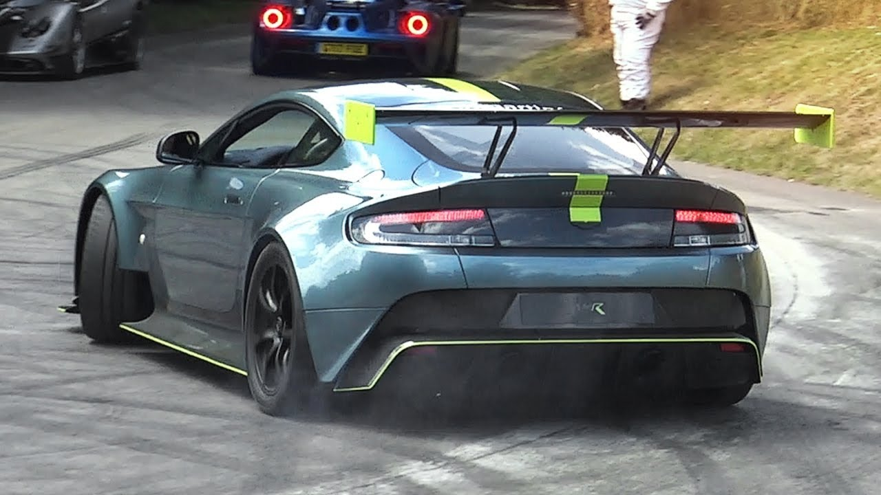 Aston Martin Vantage Amr Pro Accelerations Loud Exhaust Sound