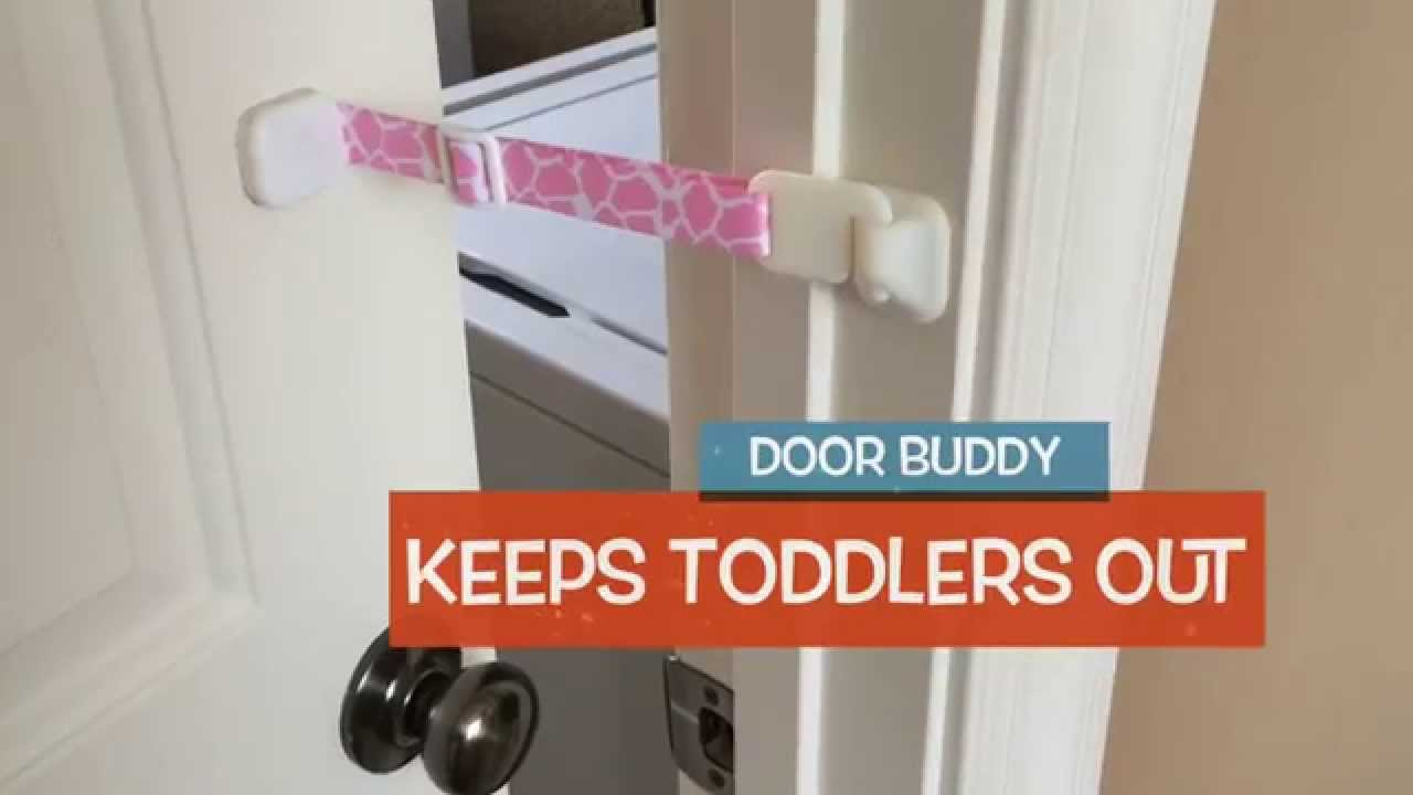 Baby Door Lock Latch u2013 Perfect for Baby Proofing Doors and the Cat Litter Box | Door Buddy - YouTube & Baby Door Lock Latch u2013 Perfect for Baby Proofing Doors and the Cat ...