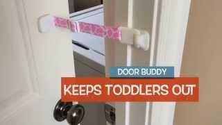 Baby Door Lock Latch – Perfect for Baby Proofing Doors and the Cat Litter Box | Door Buddy