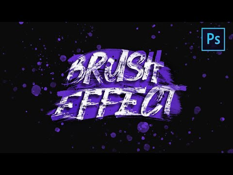 [ Photoshop Tutorial ] PAINT BRUSH Text Effect in Photoshop thumbnail