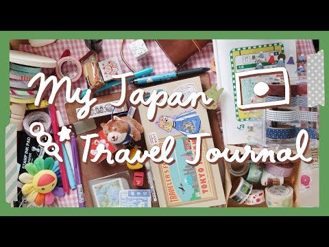 How To Make A Japan Travel Journal (Midori Traveler's Notebook Setup / トラベラーズノート) 🇯🇵