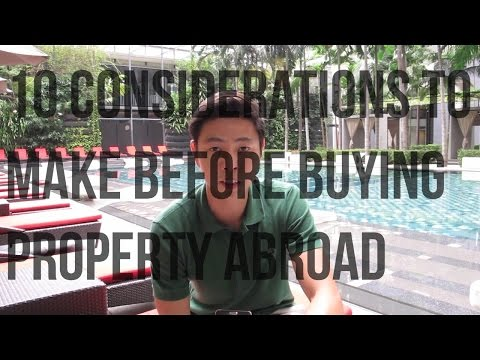 10 Considerations you need to make before buying property abroad