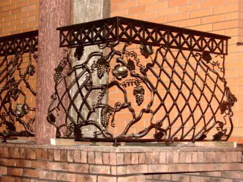 Перила 120  Металлические наружные перила  для балкона на улице фото Днепр ковка перил