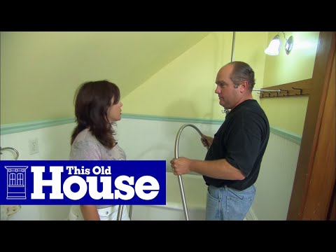 Add Shower To Clawfoot Tub. How to Add a Shower Claw Foot Tub  This Old House YouTube