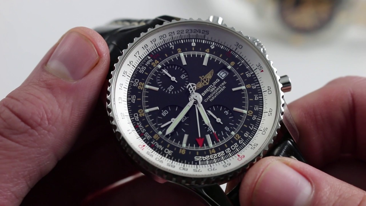 64a862c9878 Breitling Navitimer World  Slide Rule How-To   Luxury Watch Review ...