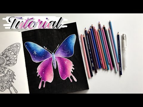 TUTORIAL: Easy galaxy with colored pencils