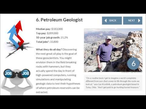 Best Jobs in America   Petroleum Geologist