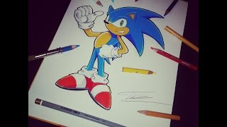 Drawing & Coloring Sonic ( Super Speed Drawing ) by TolgArt