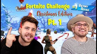 The Christmas Fortnite Challenge Pt. 1 Ft. Jc Caylen 1 KILL = 1 CHALLENGE