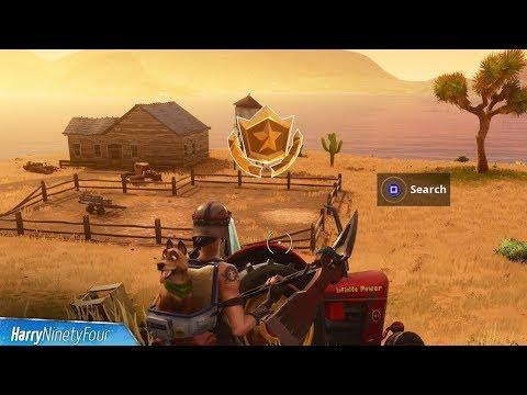 Secret Season 6 Week 1 Battlestar Location Guide (Hunting Party Challenges) - Fortnite Battle Royale