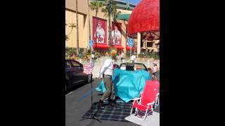 Parking Lot Entertainer at Angel Stadium