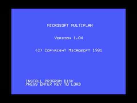 Microsoft Multiplan 1981 Microsoft - YouTube Multiplan