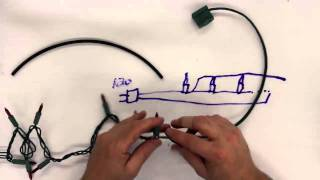 How to separate incandescent Christmas light strings