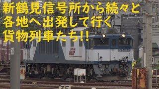 2019/09/21 [貨物列車] 新鶴見信号所から続々と各地へ出発して行く貨物列車たち!!