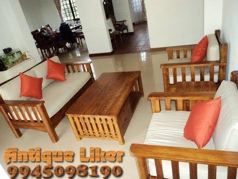 Teak wood Furniture 3+3 Sofa @ Antique Liker