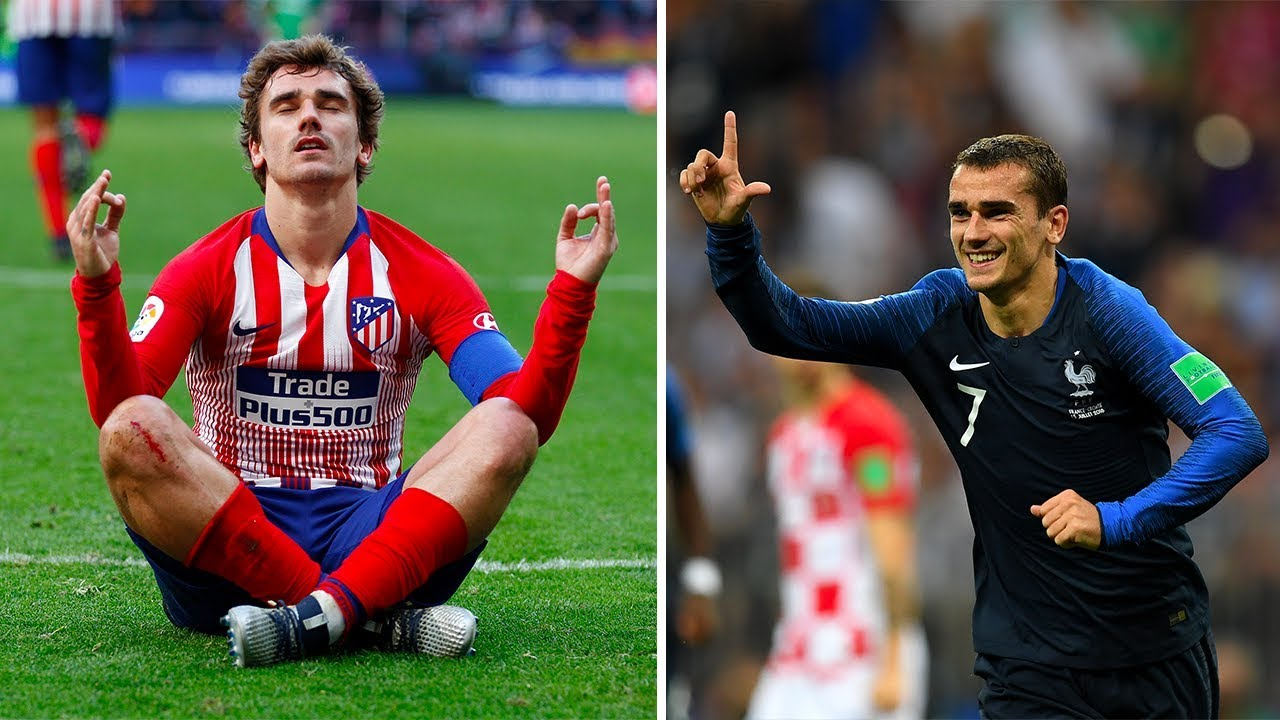 newest a6ced e25d7 The reason why Antoine Griezmann always wears a long sleeved jersey - Oh My  Goal