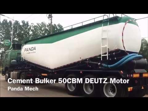 PANDA 50CBM DEUTZ Motor Bulker Cement Trailer