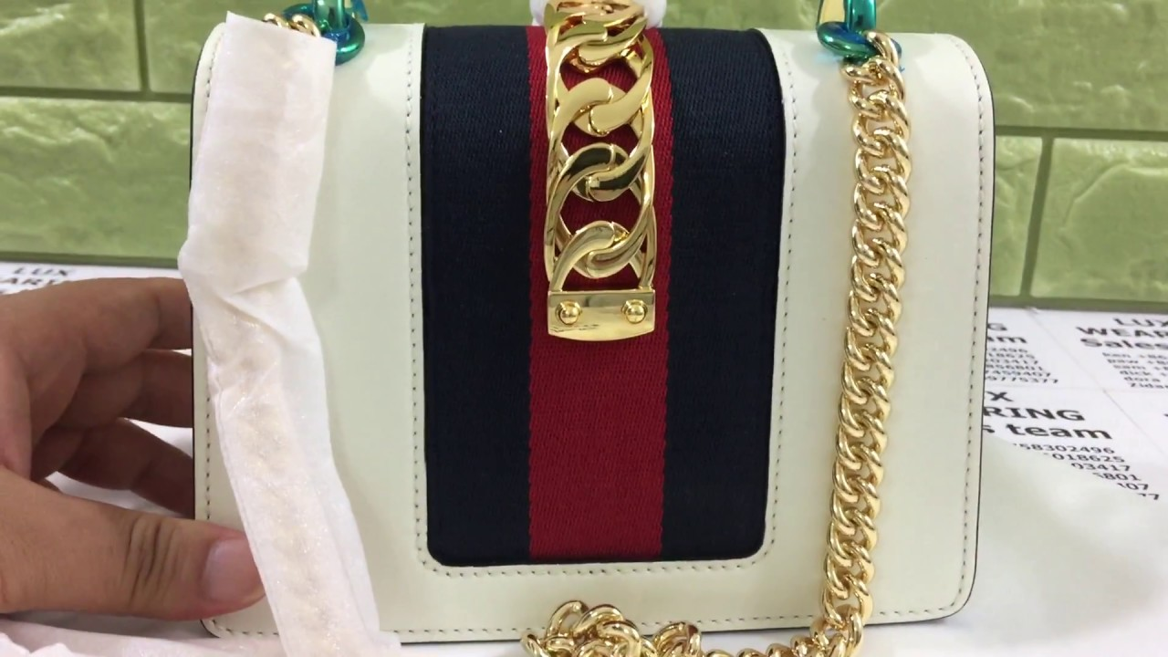 acccef90e62a GUCCI Sylvie leather mini chain bag unboxing and review - YouTube