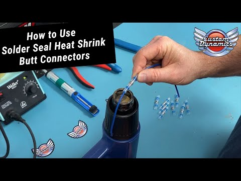 How to Use Solder Seal Heat Shrink Butt Connectors
