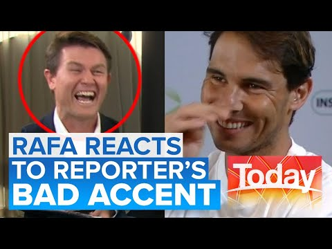 Aussie Reporter Tries To Impress Rafael Nadal With His Spanish Accent | Today Show Australia