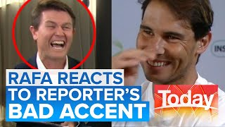 Aussie reporter tries to impress Rafael Nadal with his Spanish accent   Today Show Australia