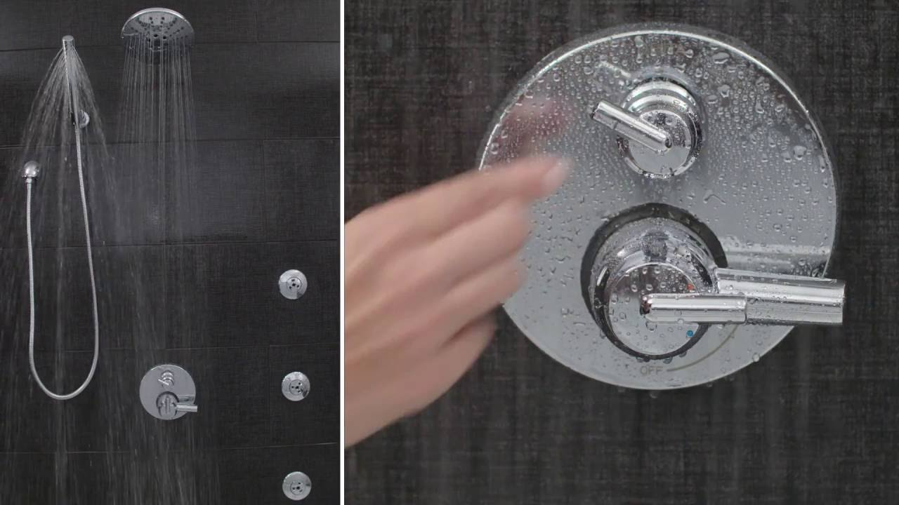 Delta Faucet Integrated Shower Diverter Valve Trim - YouTube