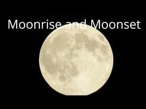 moonrise to moonset