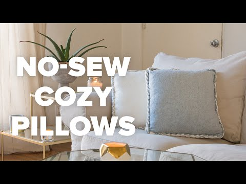 No-Sew Cozy Pillows